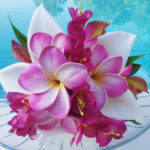 Real Touch Plumerias and White Calla Lillies